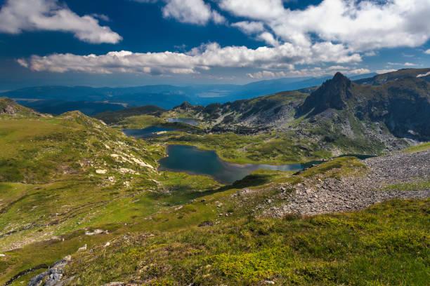 Twin Lakes in Rila Mountains stock photo
