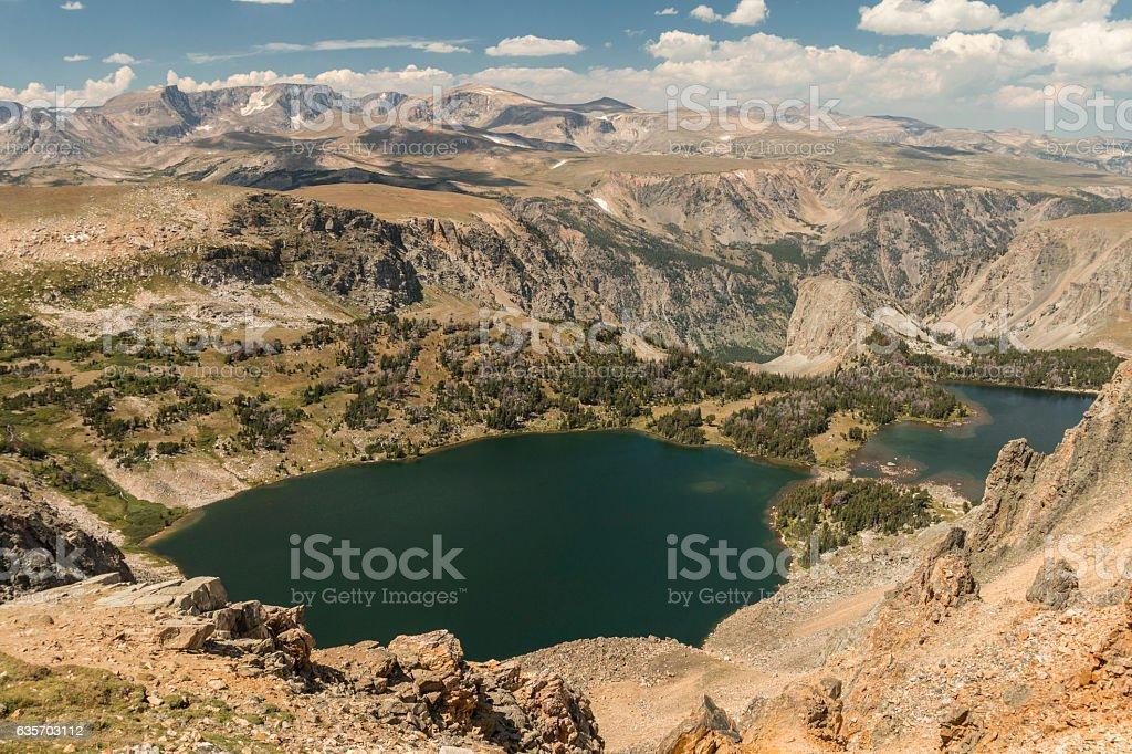 Twin Lakes near Beartooth Pass, Wyoming royalty-free stock photo