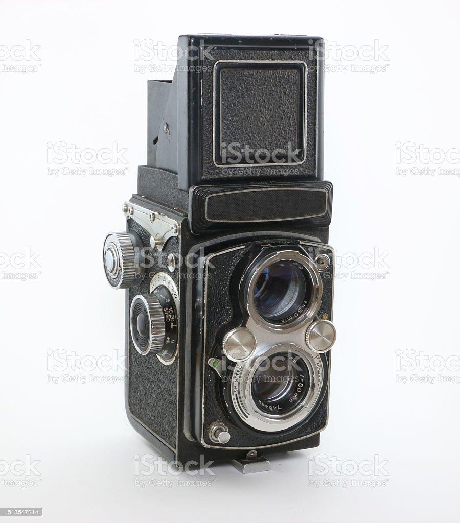 Twin Lens Reflex Vintage Film Camera stock photo