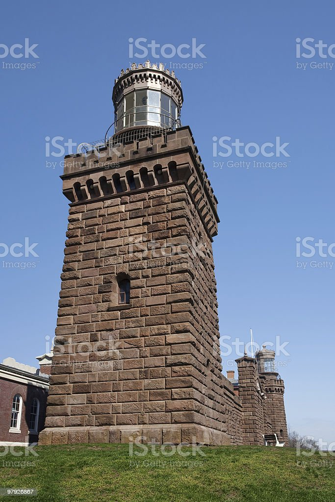 Twin Lights South Tower royalty-free stock photo