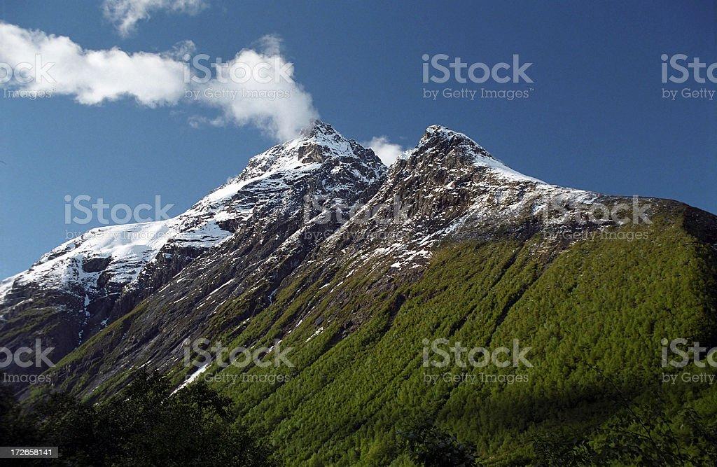 Twin Mountain Peaks royalty-free stock photo