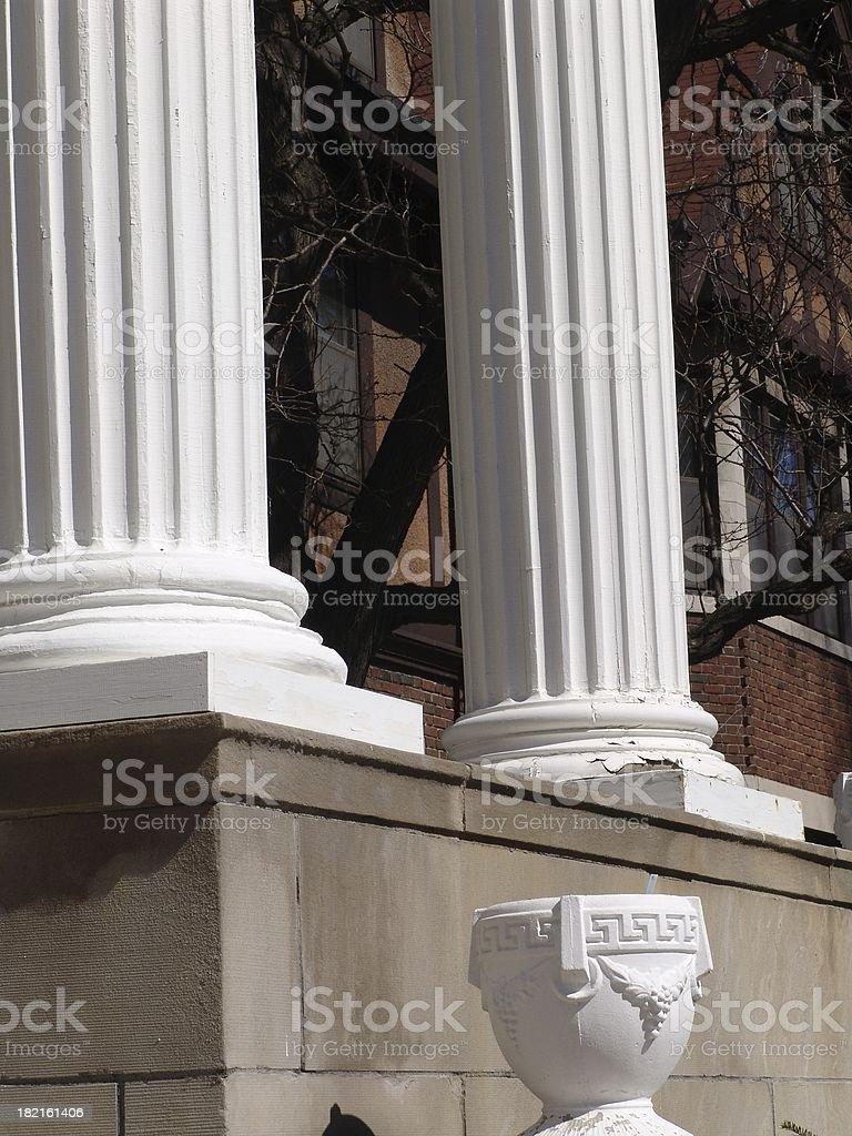 Twin Pillars royalty-free stock photo