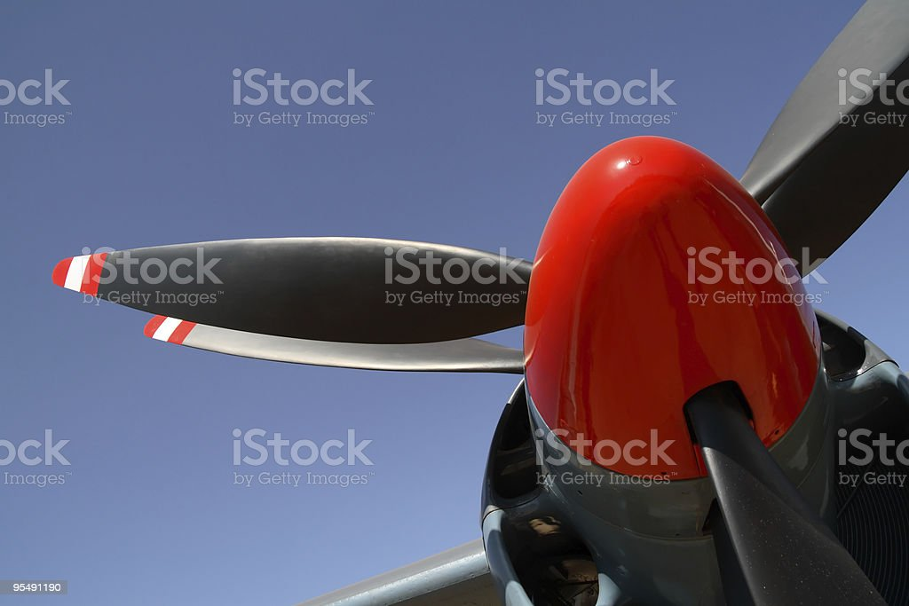 Twin propeller stock photo