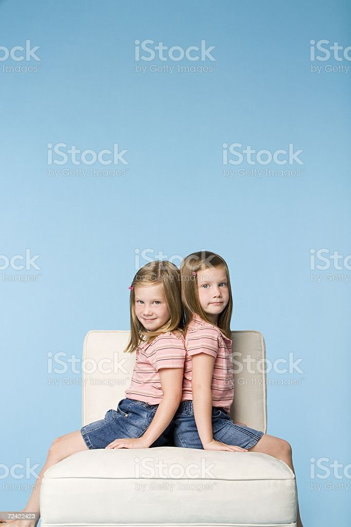 Twin sisters royalty-free stock photo