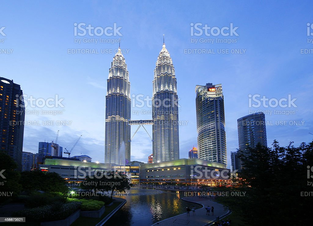 Twin Tower stock photo