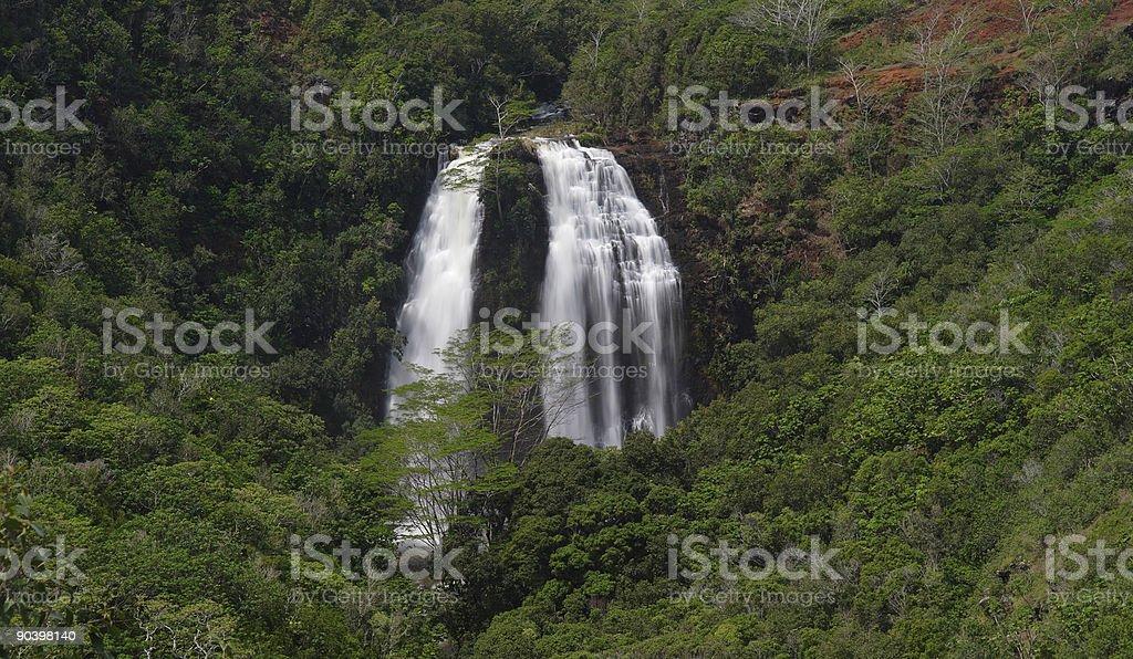 Twin Waterfall stock photo