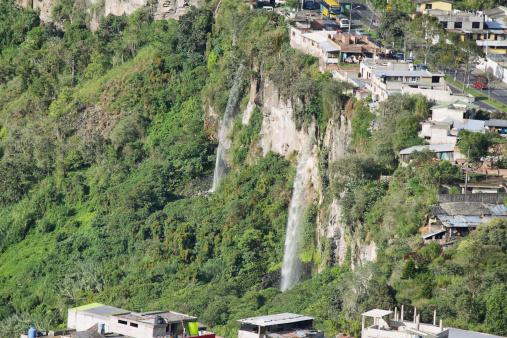 1131408581 istock photo Twin waterfalls in Banos, Ecuador 492262563