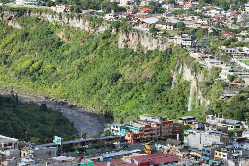 1131408581 istock photo Twin waterfalls in Banos, Ecuador 495605141