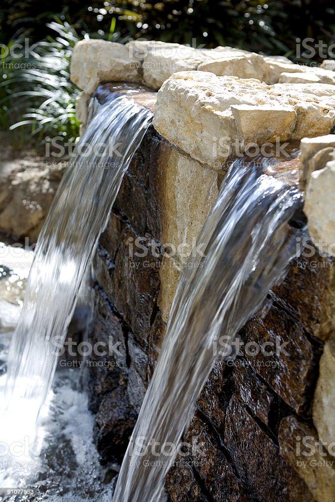 Twin Waterfalls stock photo