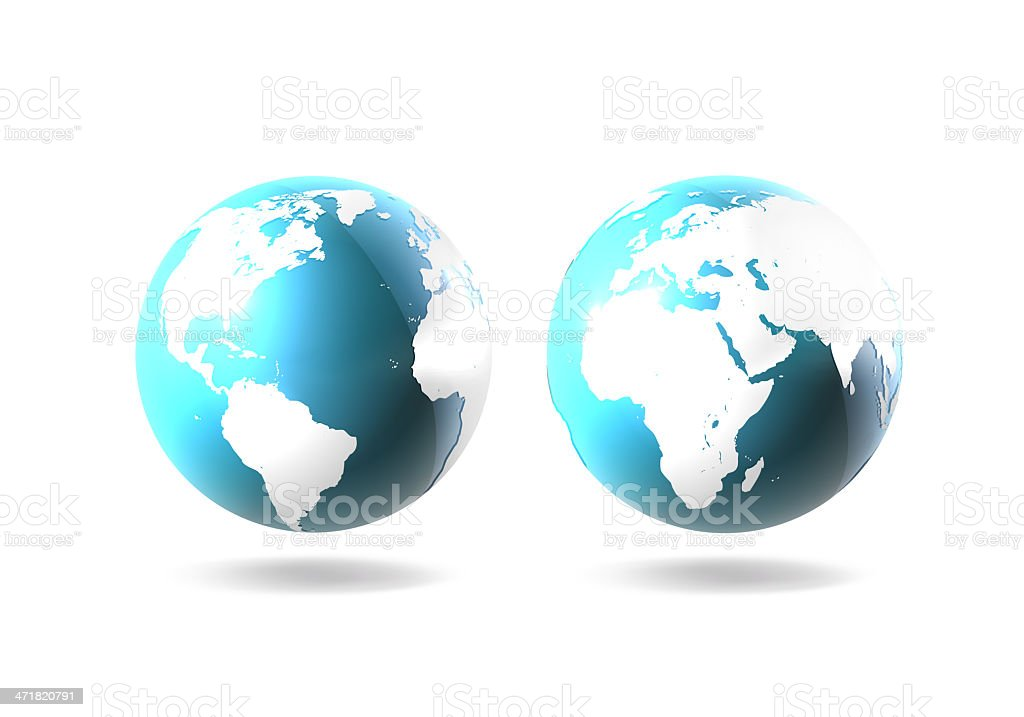 Twin Worlds royalty-free stock photo