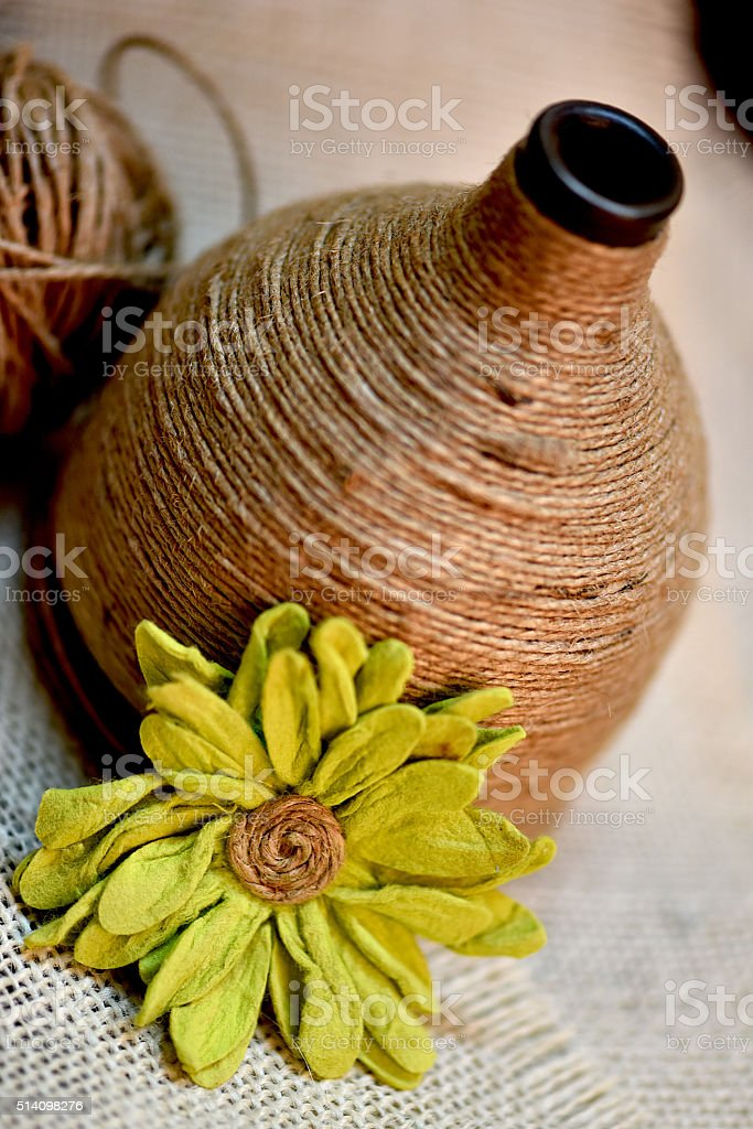 Twines From the Tabletop collection Twines and Burlap. Art Stock Photo
