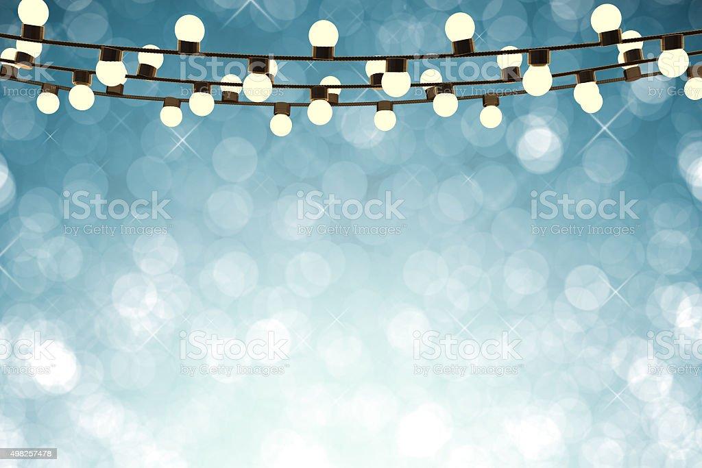 twinkle lights stock photo