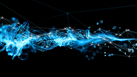 istock Twinkle particle background. Communication network. 1161459578