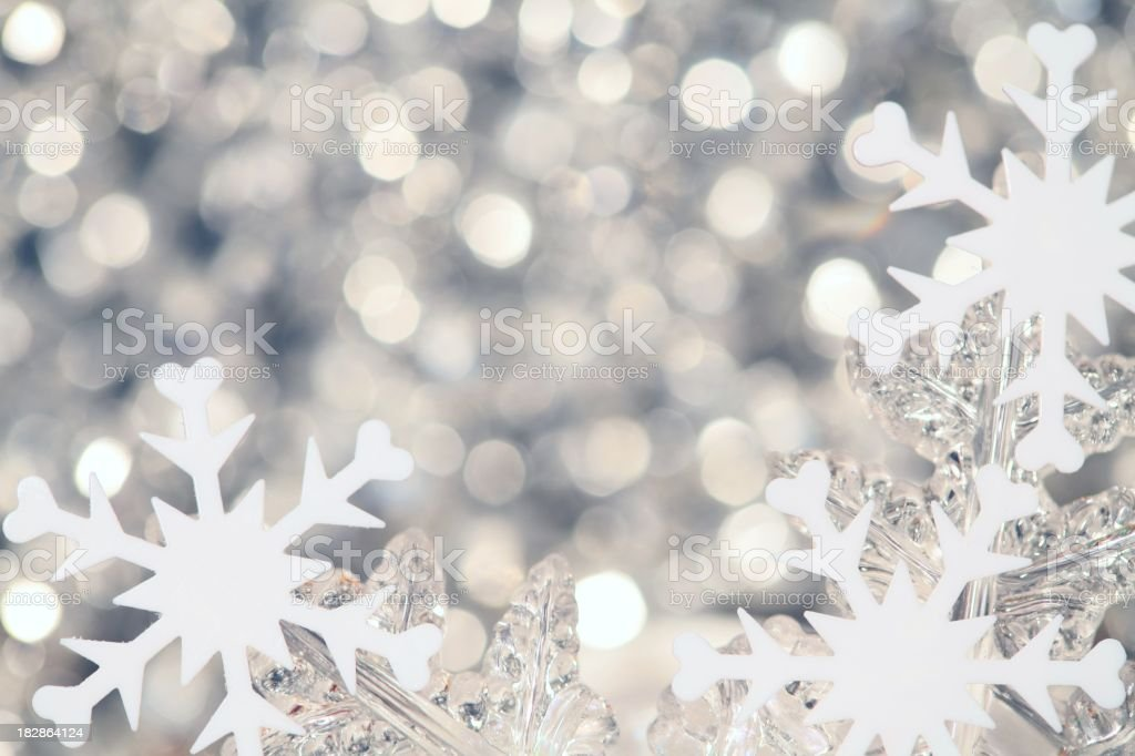 Twinkling Snowflakes royalty-free stock photo