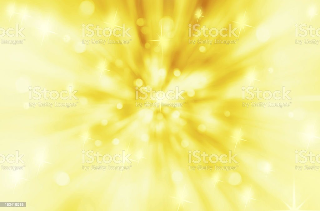Twinkly Lights and Stars Christmas Background stock photo
