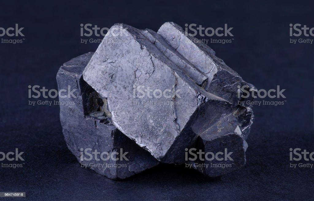 Twinned galena crystal royalty-free stock photo