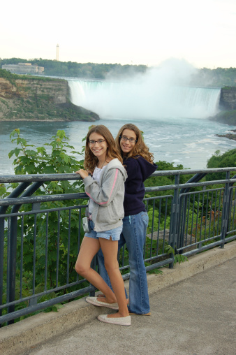 Twins at the falls