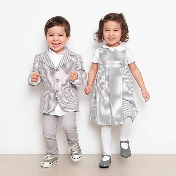 Twins Dancing stock photo