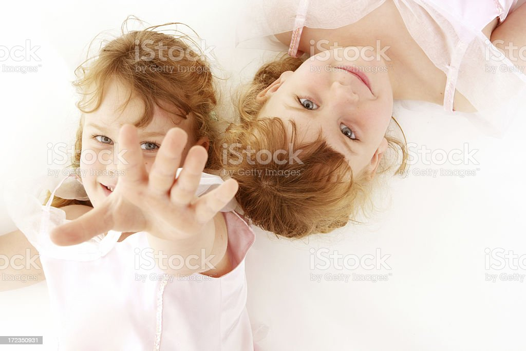 Twins Together royalty-free stock photo