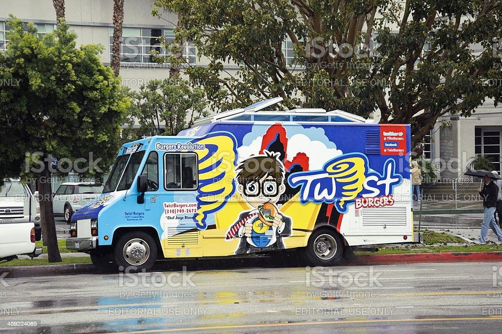 Twist Burgers food truck spotted royalty-free stock photo