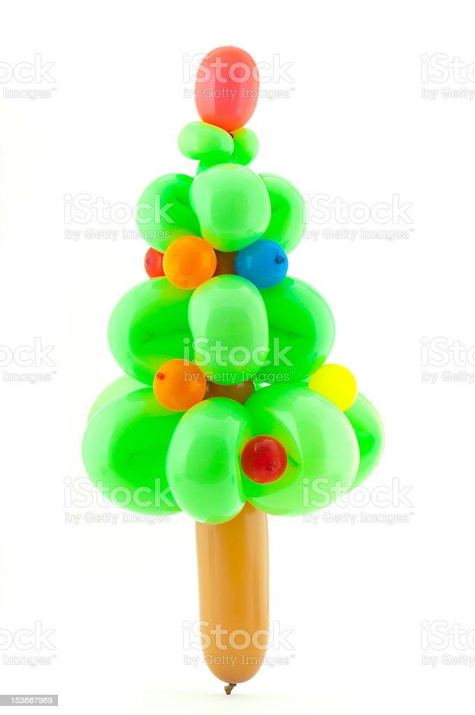Twisted Balloon Christmas Tree royalty-free stock photo