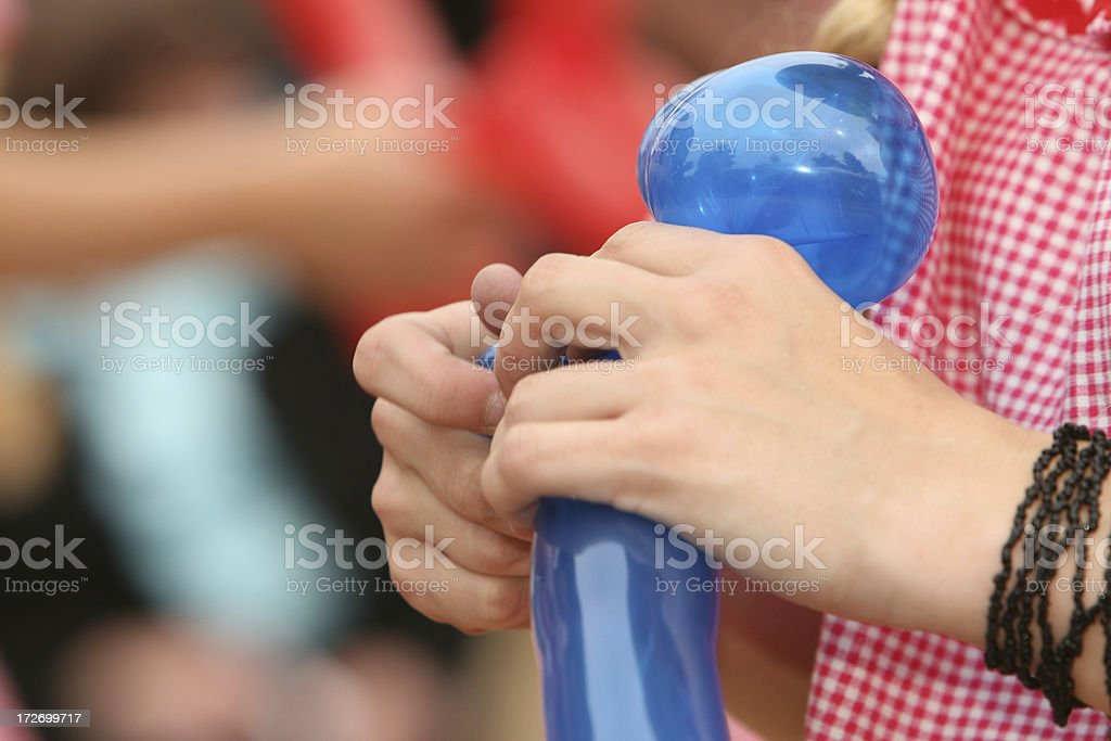 Twisted balloon royalty-free stock photo