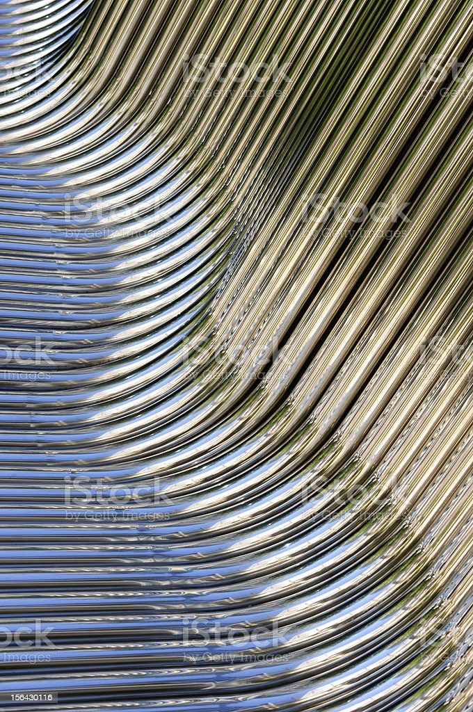 Twisted Chrome Pipes royalty-free stock photo