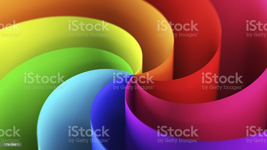 Twisted bunte Papier – Foto