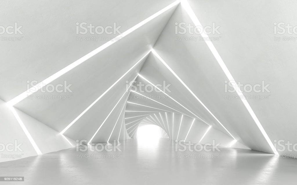 Twisted corridor stock photo