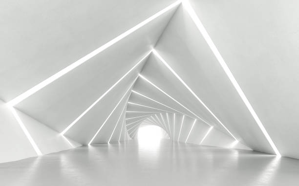 twisted corridor - architecture stock photos and pictures