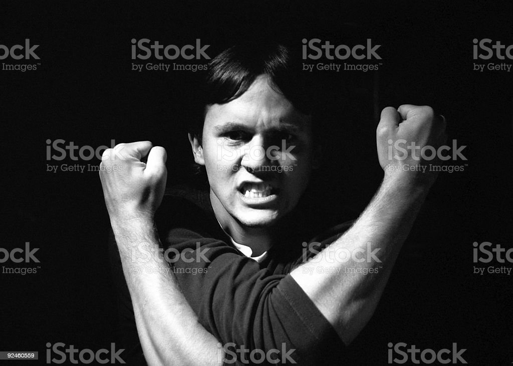 Twisted Man royalty-free stock photo