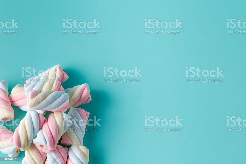Twisted marshmallow stock photo