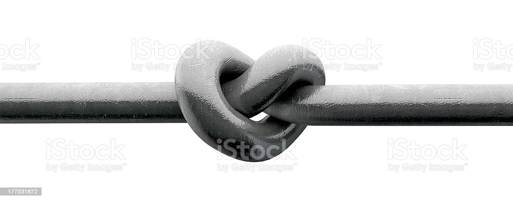 Twisted Metal Heart stock photo