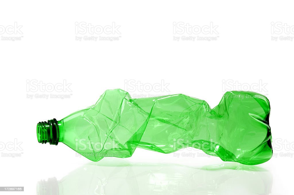 Twisted Plastic Bottle royalty-free stock photo