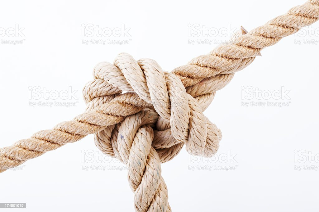 Twisted rope. stock photo