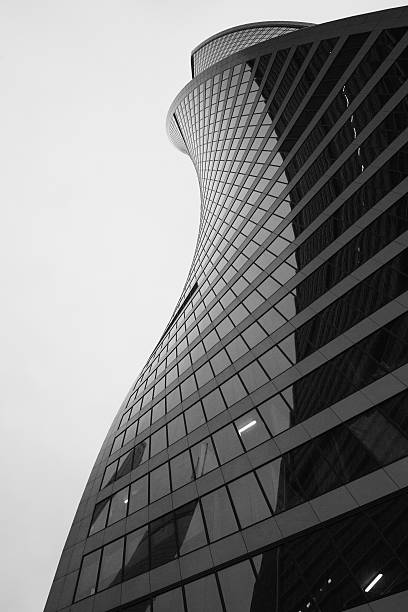 twisted skyscraper bildbanksfoto
