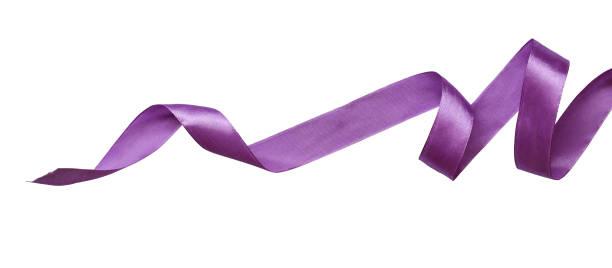 cinta de seda violeta trenzada - hélice forma geométrica fotografías e imágenes de stock