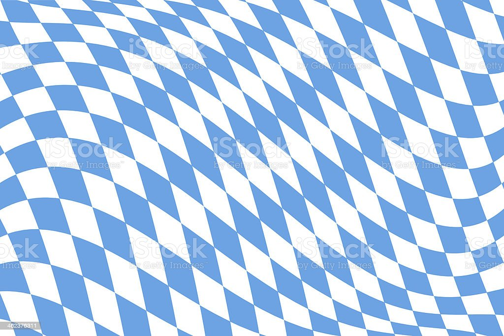 Twistet Bavarian Flag Pattern stock photo