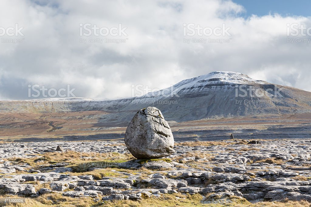 Twistleton Scar erratic stock photo