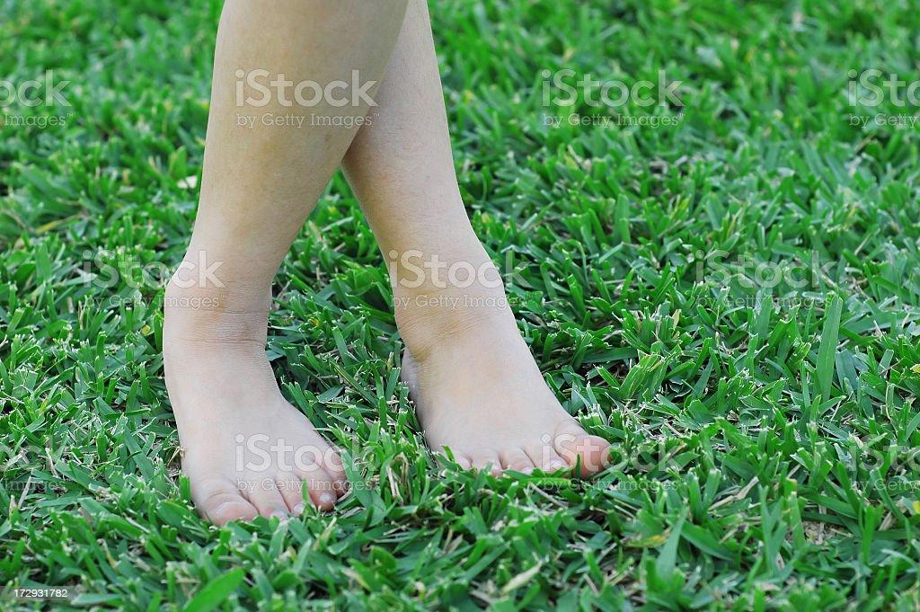 Twisty little feet. royalty-free stock photo