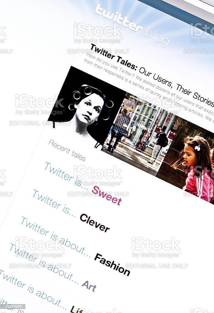 Twitter Blog royalty-free stock photo