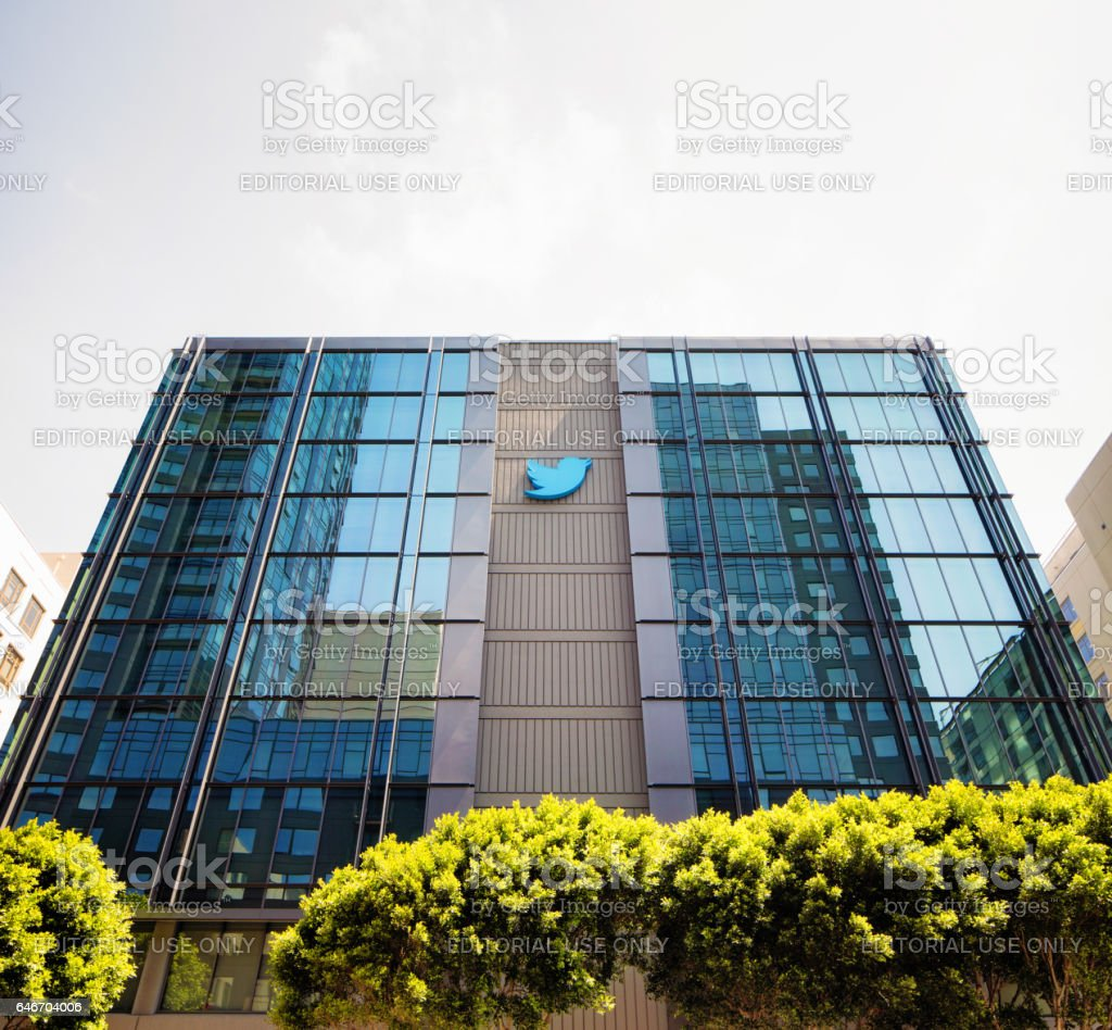 twitter san francisco office. Twitter Headquarters Building In San Francisco With Sign On Windows Royalty-free Stock Photo Office R