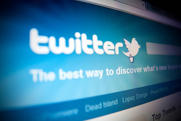 twitter-homepage. - instant messaging stock-fotos und bilder
