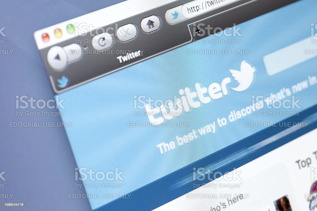 Twitter Home Page royalty-free stock photo