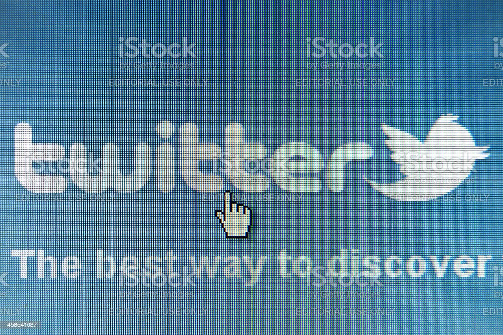 Twitter royalty-free stock photo