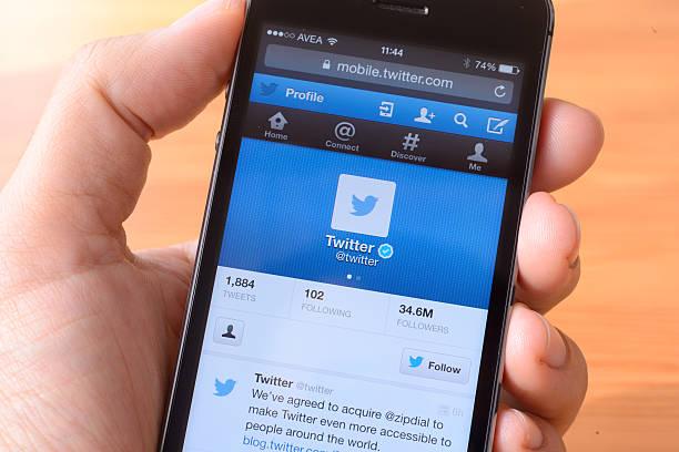 twitter - instant messaging stock-fotos und bilder