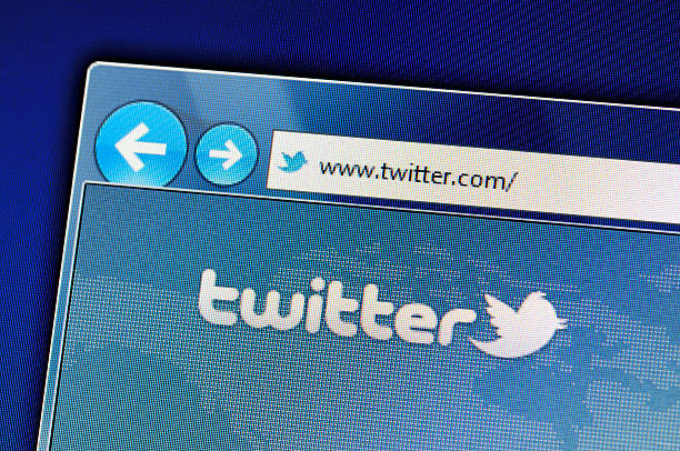 Twitter website on computer screen stock photo