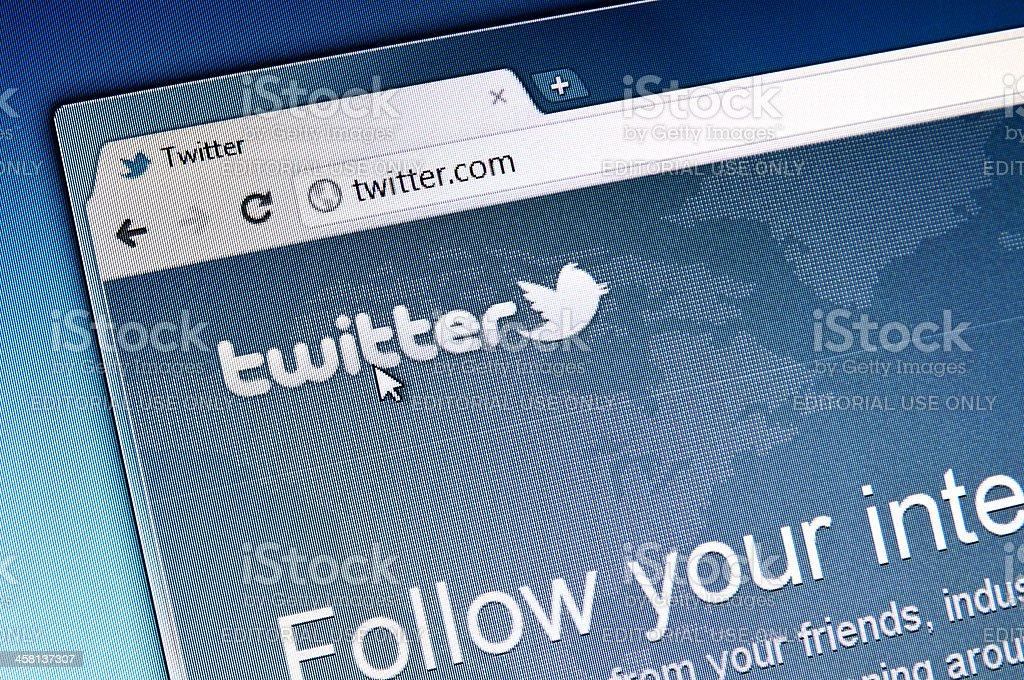 Twitter.com stock photo