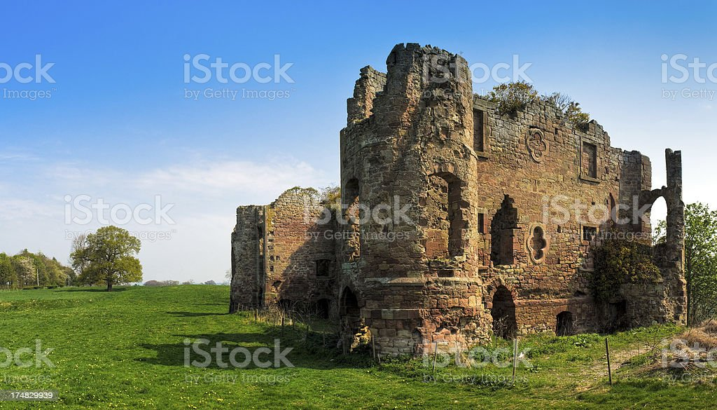 Twizel Castle, folly, Berwick-upon-Tweed, Northumberland stock photo