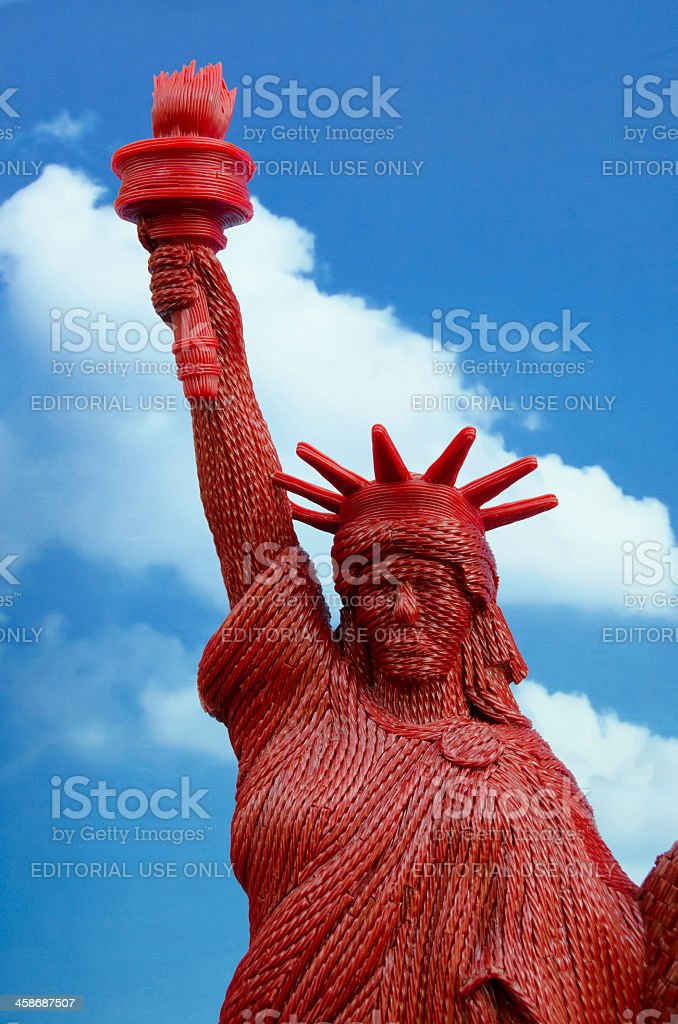Twizzlers Statue of Liberty stock photo
